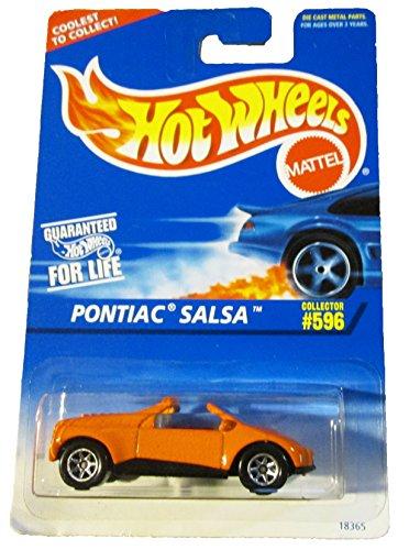 - #596 Pontiac Salsa Orange 7 Spoke Wheels Collectibles Collector Car Hot Wheels