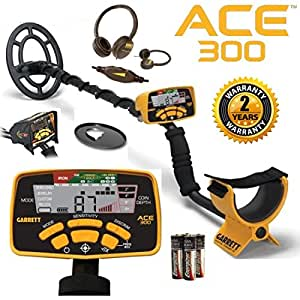 Garrett Ace 300 Metal Detector with Waterproof Coil Plus Free Accessories