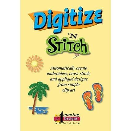 Amazon Amazing Designs Digitize N Stitch Software Home Kitchen