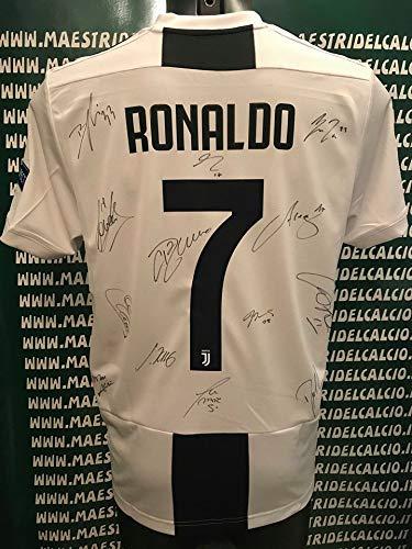 "b2d04e67e JUVE Maglia Gara Home Europa Ronaldo 7"" Autografata F.C. Juventus 2018/ 2019"