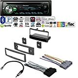 PIONEER 1DIN CAR MP3 CD STEREO W/ USB AUX-IN BLUETOOTH & PANDORA+ W/ CAR RADIO STEREO RADIO KIT DASH INSTALLATION MOUNTING W/ WIRING HARNESS FOR MERCURY AND FORD 1999-2004