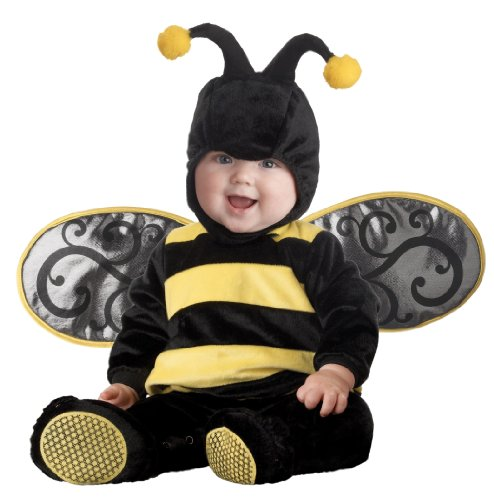 InCharacter Costumes Baby's Lil' Stinger Bee Costume, Black/Yellow, Small (Infant Bumble Bee Costume)