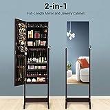 SONGMICS Mirror Jewelry Cabinet