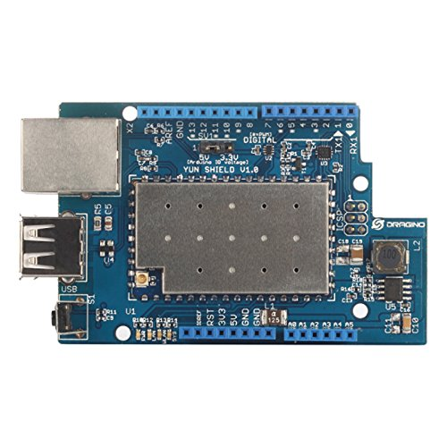 Dragino Linux, Wifi, Ethernet, USB, All-in-one Yun Shield for Arduino Leonardo, UNO, Mega2560, Duemilanove by Dragino (Image #2)