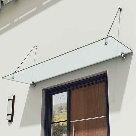 Durovin Bathrooms Luxury Glass Over Door Canopy | Stainless Steel ...