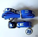 Duke University Blue Devils Dog Pet Set Leash Collar ID Tag XS, My Pet Supplies
