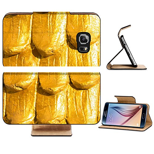 Luxlady Premium Samsung Galaxy S6 Edge Flip Pu Leather Wallet Case IMAGE 20915152 Dragon scales - Part Body Temple Image