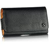 Luxmo OG Pouch Horizontal Leather Pouch Belt Clip Holster Case for LG Nexus 4 E960