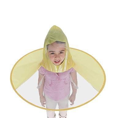 Xiluck Paraguas de Manos Libres, Chubasquero para niños ...