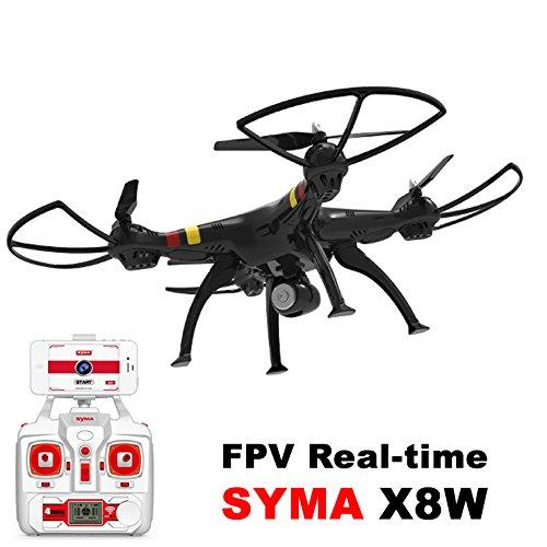 SATKIT Negro - Quadcopter Drone SYMA X8W FPV Explorers 2. 4GHz 4CH ...