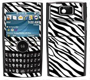 I617 Cell Phone Skins - Zebra Print Pattern Skin for Samsung Blackjack II 2 i616 or i617 Phone