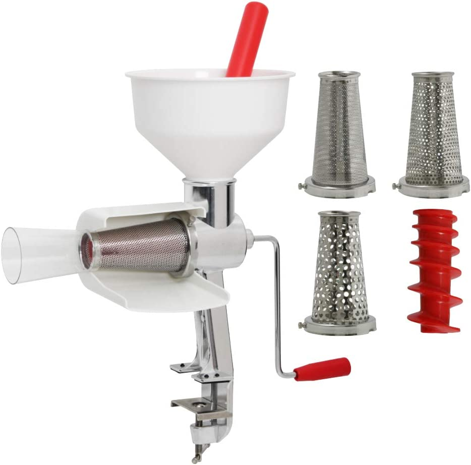 Johnny Apple Sauce Maker Model 250 Food Strainer (Special Package Includes Strainer and 4 pc Accessory Pack)