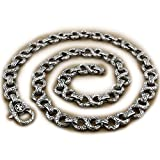 18'' ~ 36'' 316L Stainless Steel Cool Mens Necklace Chain 4B006N (28 Inches)