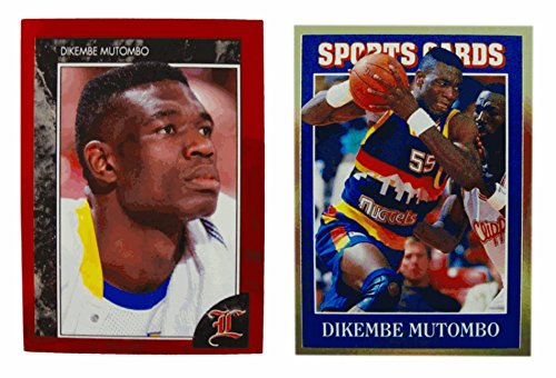 (2) Dikembe Mutombo Odd-Ball Trading Card - 90s Movie Baseball