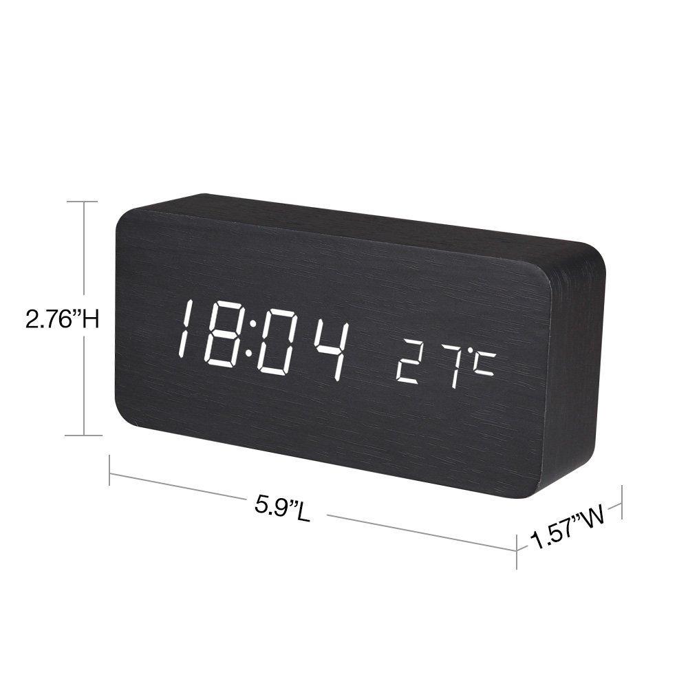 Amazoncom Wooden led digital alarm clocksElectronic atomic
