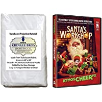 AtmosCheerFX Santas Workshop on SD Card and High Resolution Fabric Rear Projection Screen
