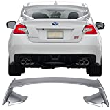 Pre-painted Trunk Spoiler Fits 2015-2018 Subaru WRX STI | STI Style ABS Painted #G1U Ice Silver Metallic Trunk Boot Lip Spoiler Wing Deck Lid Other Color Available By IKON MOTORSPORTS | 2016 2017
