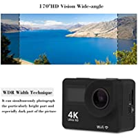 4K WIFI Sports Action Camera 147 FEET/ 45M Underwater 2 LCD 170° Lens 1080HD 12MP Recording DV