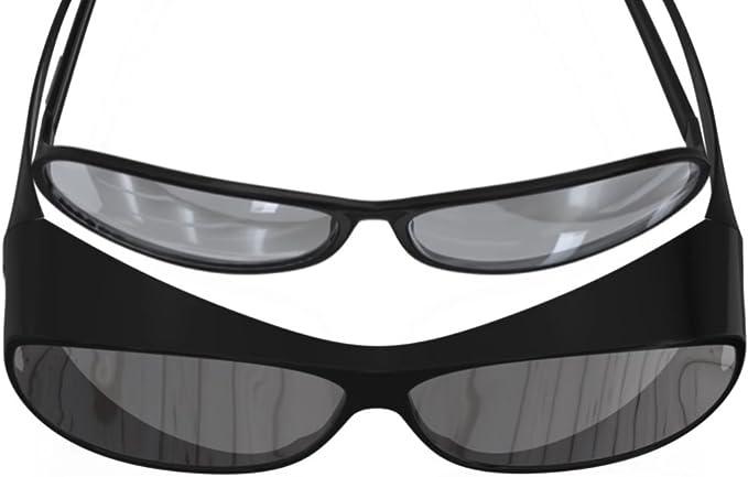 Lenti polarizzate per Portatore Occhiali da sole polarizzati occhiali da sole nel Set Protezione dal sole-Eyeshield UV 400 rosso-met