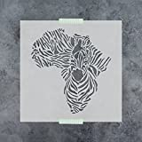 zebra stencils for painting walls - Africa Zebra Stencil Template for Walls and Crafts - Reusable Stencils for Painting in Small & Large Sizes