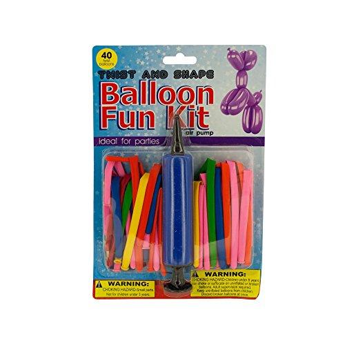Kole Imports OF654 Twist & Shape Balloon Fun Kit with Air Pump by Kole Imports