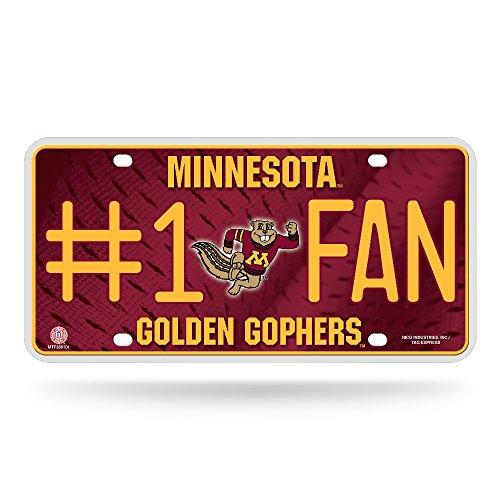 NCAA Minnesota Golden Gophers #1 Fan Metal License Plate Tag ()