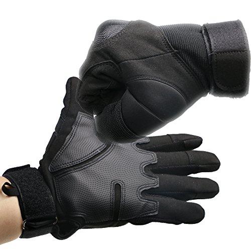 ArunnersTM Mountain Bike Motorcycle Gloves Men Women Tactical Gloves Hard Knuckle Military Full Finger Airsoft Paintball Outdoor Winter Gloves Black 2