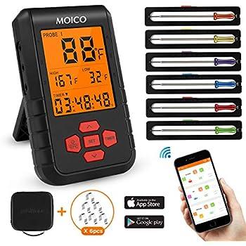 Amazon.com: Termómetro digital con mando a distancia para ...