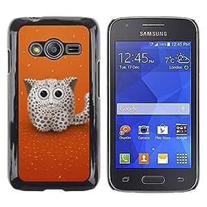Caucho caso de Shell duro de la cubierta de accesorios de protección BY RAYDREAMMM - Samsung Galaxy Ace 4 - Cute Snow Cat