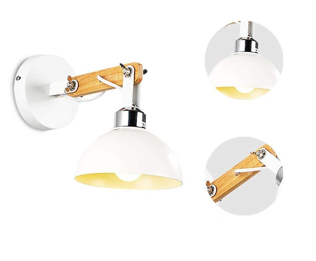JJZLY Kamin Nachttischlampe Minimalistisch Modisch Verstellbar Weiß Rocker of Hall Wohnzimmer Esszimmer Schlafzimmer Wandleuchte Select Gateway