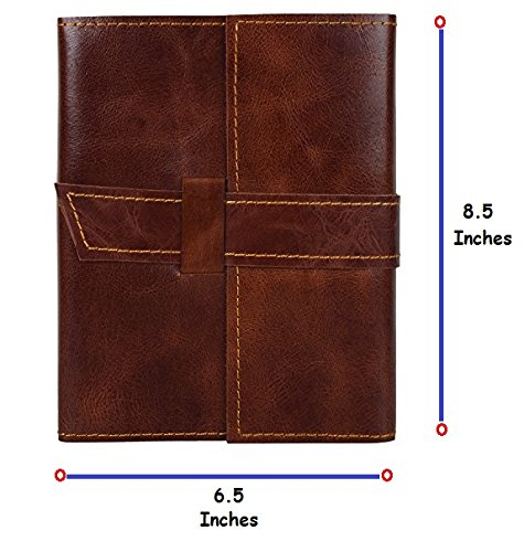 Refillable Handmade Genuine Leather Journal Diary Notebook Gift for him her