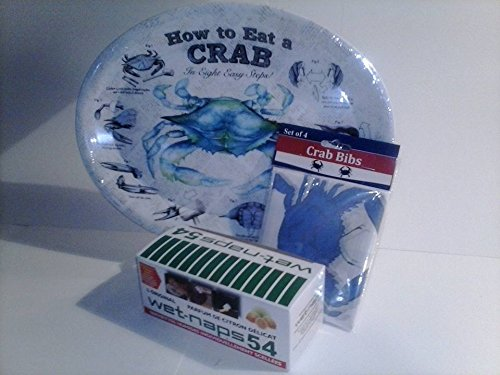 How to Eat A Crab Melamine Platter/Plate (measures 10