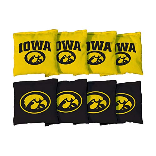 Victory Tailgate NCAA Collegiate Regulation Cornhole Game Bag Set (8 Bags Included, Corn-Filled) - Iowa Hawkeyes