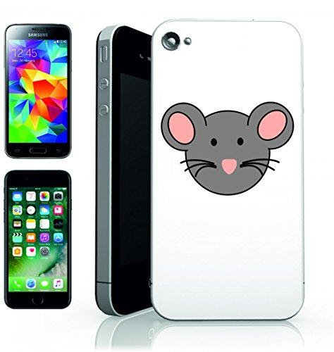 Smartphone Case Topo Volto animale del Mammifero della Rosa del naso del fumetto di grigio per APPLE IPHONE 4/4S, 5/5S, 5C, 6/6S, 7& Samsung Galaxy S4, S5, S6, S6Edge, S7, S7Edge Huawei HTC–Di