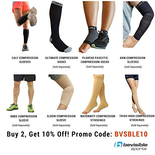 f147a14bbe BeVisible Sports Calf Compression Sleeve Shin Splint Leg - Import It All