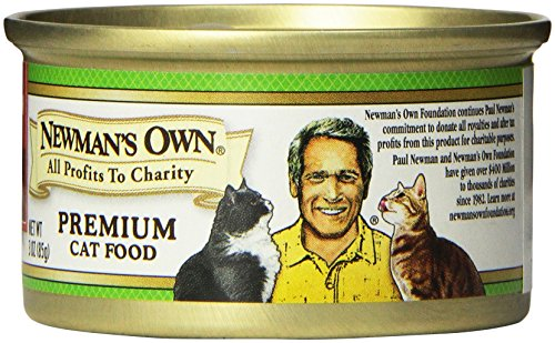 Newman's Own Premium, Chicken and Salmon Formula for Cats, 3-Ounce Cans (Pack of 24)
