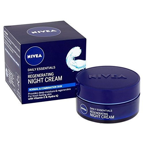 - Genuine German Nivea Regenerating Night Care Cream Aqua Effect with Lotus Flower Extract for all skin types 1.69 fl. oz - 50ml