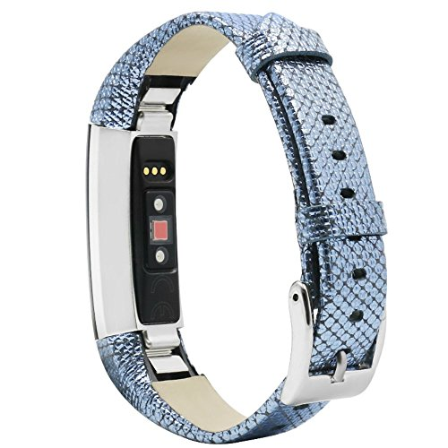 Ambcol for Fitbit Alta Bands/Fitbit Alta HR Bands, Genuine Leather Replacement Bands for Fitbit Alta/Fitbit Alta HR 5.5