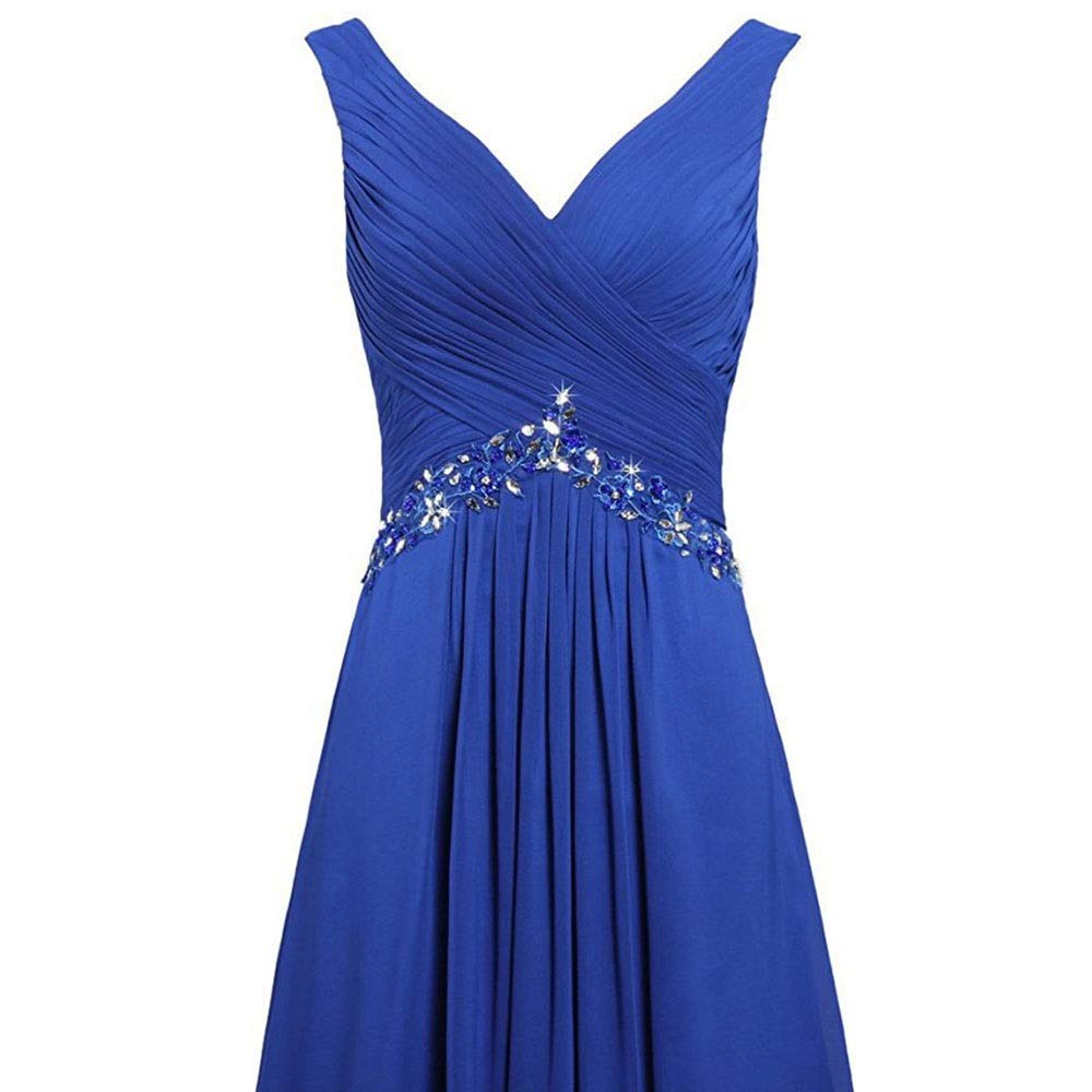 Dark bluee MISSKERVINFENDRIYUN Women's Formal Fashion Solid Ruffles Sleeveless Evening Dress