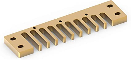 3 Colores: Oro, Plata, Rojo Pieza de arm/ónica de Peine aleaci/ón de Aluminio para Hohner Marine Band Crossover//Deluxe