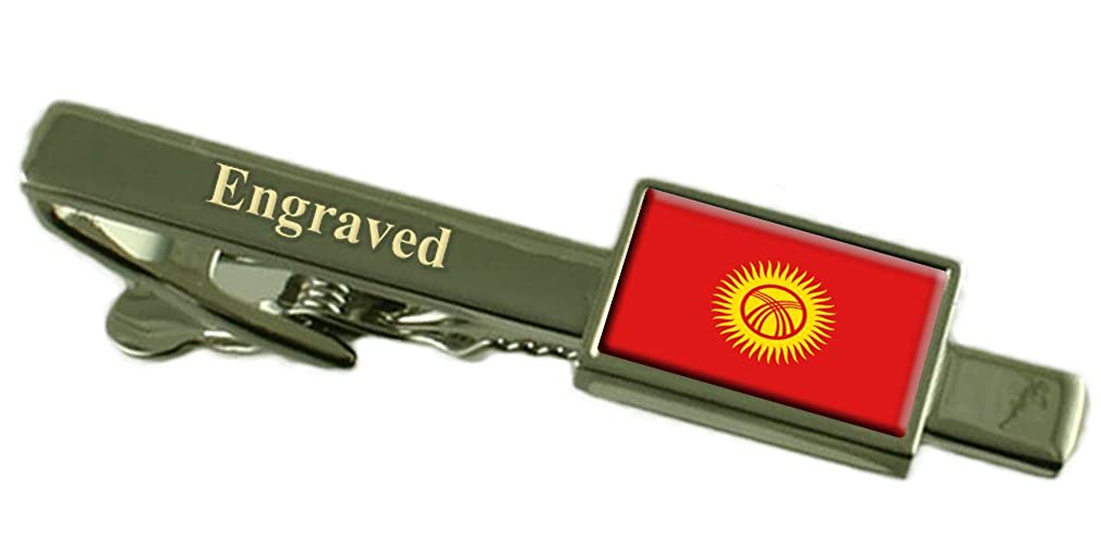 Select Gifts Kyrgyzstan Flag Engraved Personalised Tie Clip
