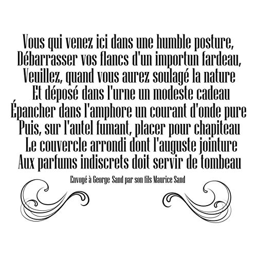 Les Tresors De Lily [Q4807] - Plate of Stickers 'Citations' (Quotation of The Toilets of Maurice Sand to George Sand) - 50x70 ()