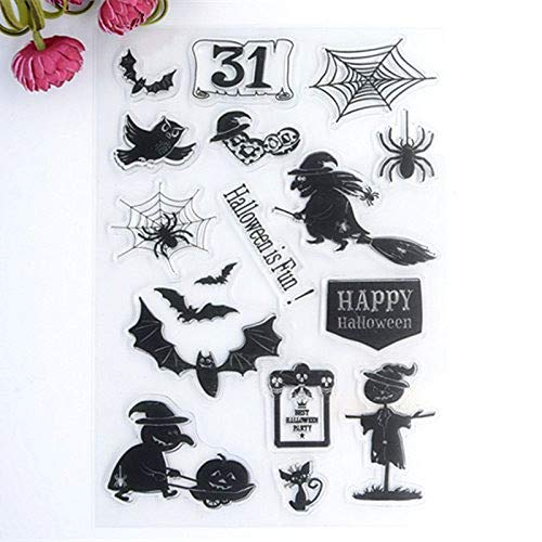 Welcome to Joyful Home 1pc Halloween Style Rubber Clear Stamp for Card Making Decoration and Scrapbooking -