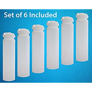 myColdCup Water Bottle Ice Pack, Reusable Ice Stick. BPA-Free. Distilled Water Inside. (Set of 6)