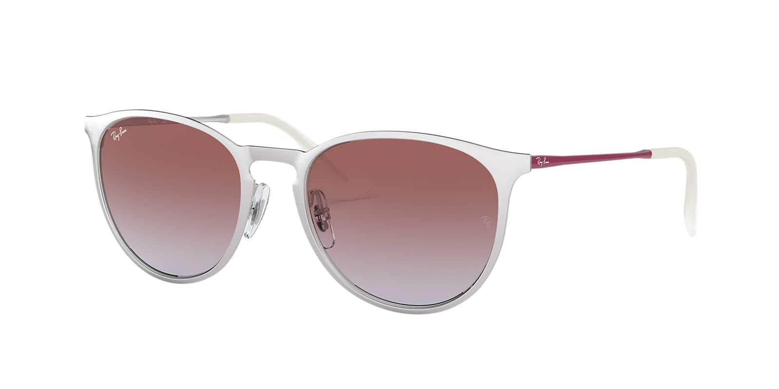 ویکالا · خرید عینک آفتابی Ray-Ban Erika Metal، نقره ای BRUSCHED، 54 میلی متر اصل اورجینال · خرید از آمازون · Ray-Ban Erika Metal Round Sunglasses, BRUSCHED Silver, 54 mm wekala · ویکالا