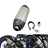 Alpha Rider Universal Motorcycle Carbon Fiber 51mm Slip-On Exhaust Muffler Exhaust Pipe For TRIUMPH TIGER 1050 SPORT 2013 - 2015 , TIGER 800 2011 - later Titanium