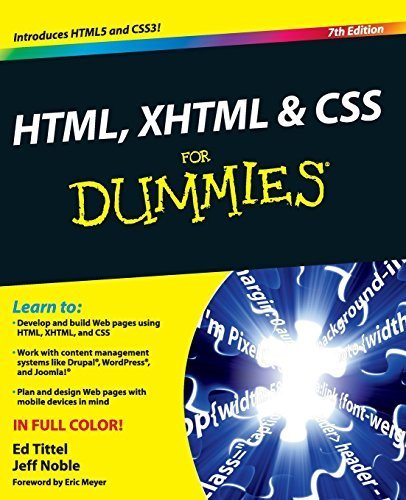 HTML, XHTML and CSS For Dummies 7th edition by Tittel, Ed, Noble, Jeff (2011) Taschenbuch