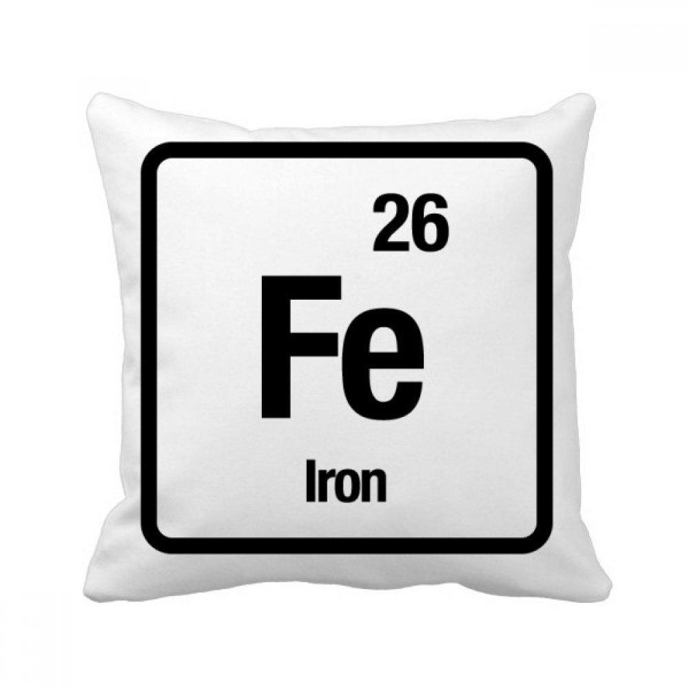 diythinker FE Iron化学要素Science正方形クッション挿入クッションカバーホームソファ装飾ギフト B07BS7KW1W