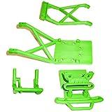 Traxxas Stampede XL-5 VXL 2WD Monster Jam GREEN BUMPER - SKID PLATES & MOUNT