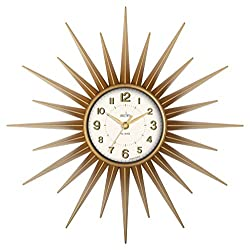 Acctim 21760 Stella Sprayed Starburst Wall Clock, Gold by Acctim